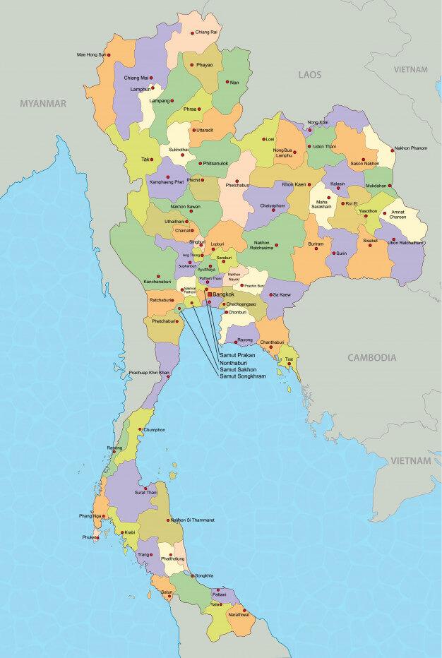 Mapa De Tailandia Viajar A Tailandia